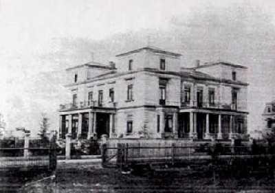 historische Aufnahme des Bürogebäudes - der Villa Editha